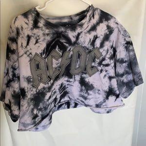 AC/DC t shirt crop top